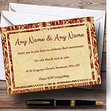 Amazon Com Vintage Royal Red Postcard Style Personalized