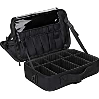 Makeup Case,Chomeiu 2 Layer Makeup Bag for Travel,Portable Cosmetics Organizer Train Case with Adjustable Dividers and…