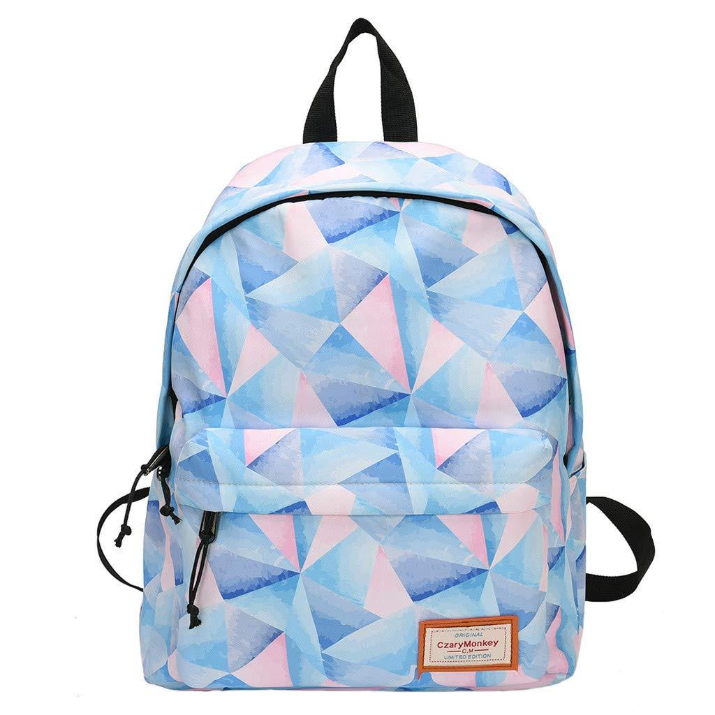 Travel Backpacks Graffiti Shoulder Bag Leisure Daypack Large Capacity School Book Bag Lightweight Backpack By Lmtime(A)