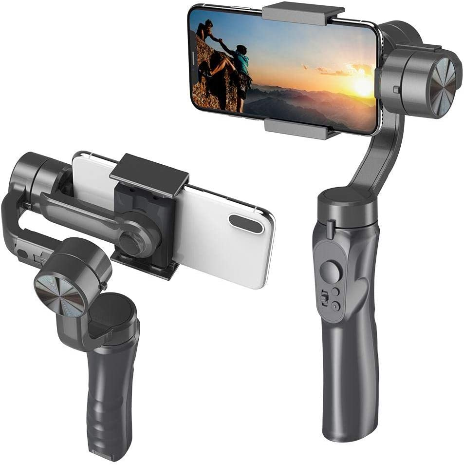 3-Axis Gimbal Stabilizer,H4 Usb Handheld Gimbal Smartphone Stabilizer With Sport Inception Mode Face Object Tracking Motion Via Bluetooth,Three Follow Modes,For Smartphone
