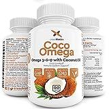 omega 3 6 9 de now - Coco Omega 3 Premium Vegetarian Omega 3 6 9 with Coconut Oil! PLUS Flax Seed Oil, Alpha Linolenic, Lenoic, Oleic Fatty Acids. 60 vegetarian softgels. Gelatin free, Gluten Free