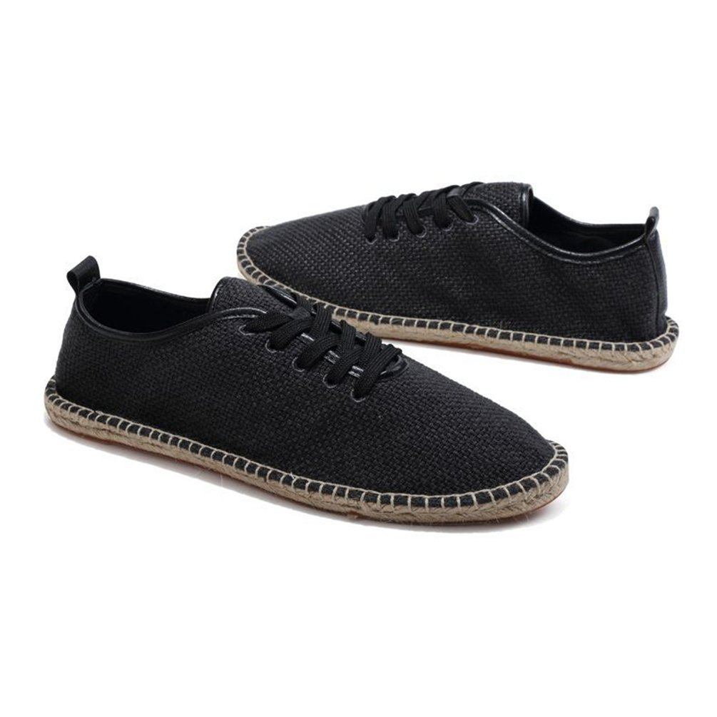 Jitong Alpargatas Bajas de Hombre Punta Redonda Zapatos de Lona Slip-on Loafers Mocasines para Caminar: Amazon.es: Zapatos y complementos
