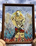 Arch Angel Stained Glass Window Art Sun Catcher, Christian Art
