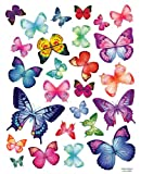Decowall, DP-08004, 26 mariposas vibrantes pegatinas de pared