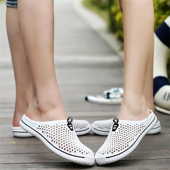 Juleya Unisex Pantofole Chiuse Davanti Scarpe Donna Uomo Slipers Sandali  Spiaggia Scarpe Cavo su Pantofole All aperto Casuale Piatto Clogs Mules  Casa ... ce33824fabc