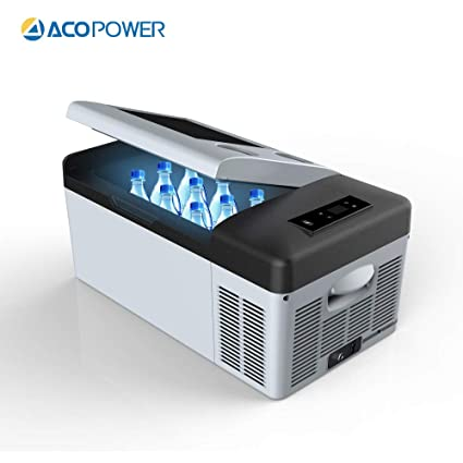 ACOPOWER 4°F True Freezing, 12V/24V DC and 110V AC (16 Quarts) P15 Portable  Compressor Fridge Freezer fit for car and Home