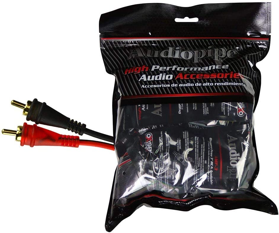 Audiopipe 6ft Oxygen Free RCA Cable 10pcs per Bag