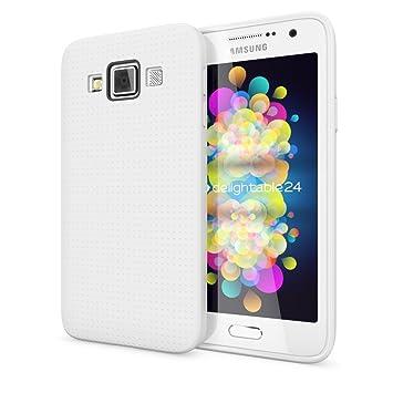 Samsung Galaxy A3 2015 Funda Carcasa de NALIA, Protectora Movil Silicona Fina Bumper Estuche con Puntos, Goma Cubierta Cobertura Delgado Dot Cover ...