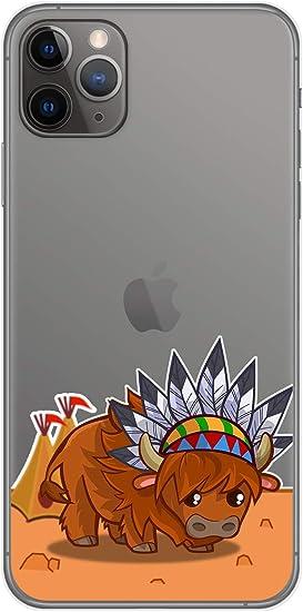 Funda Gel Transparente para iPhone 11 Pro (5.8) diseño Bufalo ...