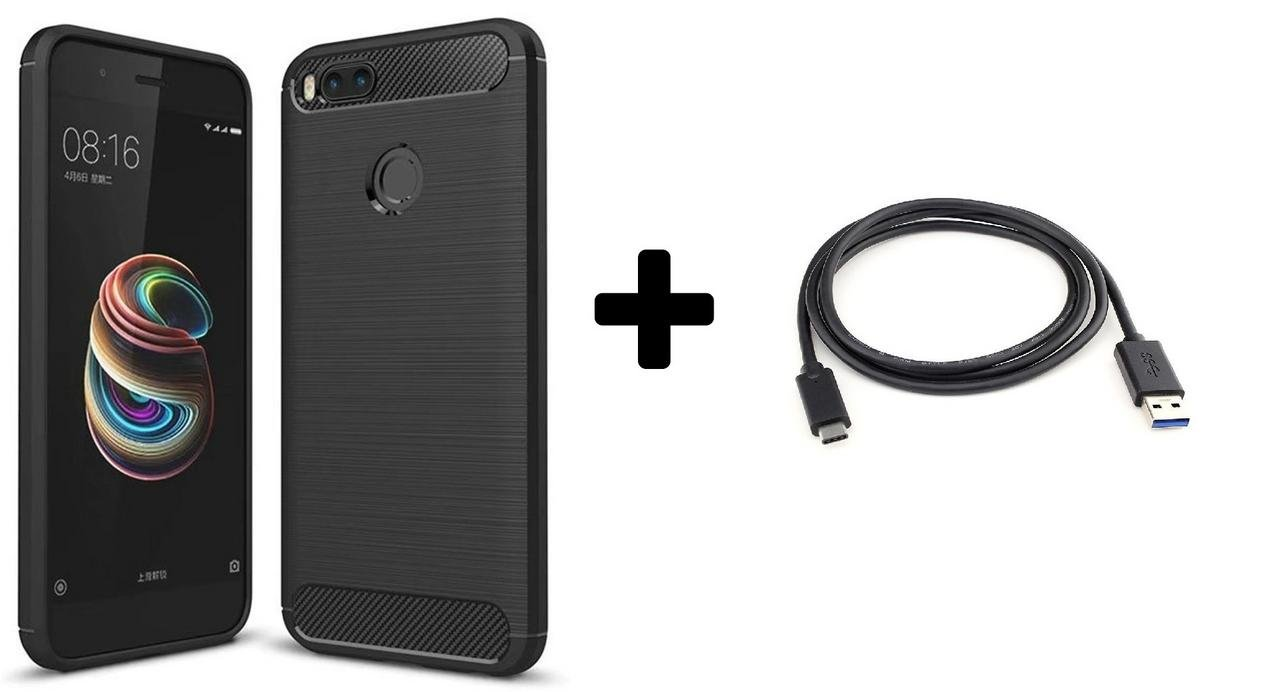 Xiaomi Mi A1 USB Type C Cable and Black liqued TPU: Amazon