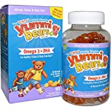 Hero Nutritional Products, Yummi Bears, Omega-3 + DHA, Natural Fruit Flavors, 90 Gummy Bears - 3PC
