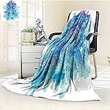 AmaPark Digital Printing Blanket Yoga Ornamental Art Meditation Lotus Cross Legged Position Aqua Summer Quilt Comforter