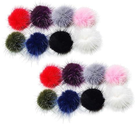 Valentine\u2019s Day hair clips Pom hair clip poms on clips Pom Pom piggies Double Pom headband