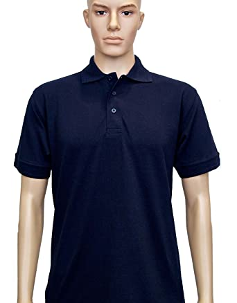 7690b904 Uneek UC109 Polyester/Cotton Unisex Essential Pique Polo Shirt, Navy,  X-Small