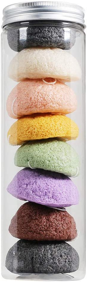 Natural Fiber Wash Clean Sponge Puff Cleansing Face Washing Facial Tool 8PCS, Puff, Health and Beauty HotSales (Multicolor)