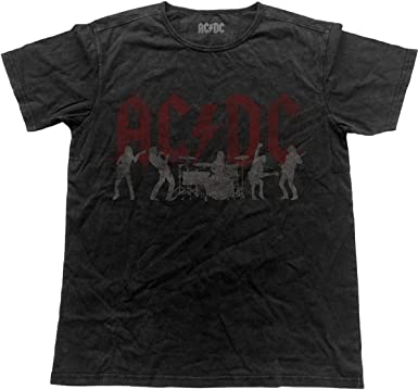 AC/DC Angus Young Brian Johnson Back in Black Oficial Camiseta para Hombre (Small): Amazon.es: Ropa y accesorios