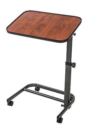 Cama de lujo, Sculptured Countenance fabacare - Mesa auxiliar Mesa sobre ruedas, mesa para cama con ángulo de inclinación, plegable, ajustable: Amazon.es: ...
