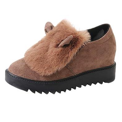 be76b137240 ZYUEER Ankle Boots Bottines Chelsea Femme Bas Bottes Mode Haut Talon Lacent  Bottines Talon éPais Cosplay Kawaii CompenséEs  Amazon.fr  Chaussures et  Sacs
