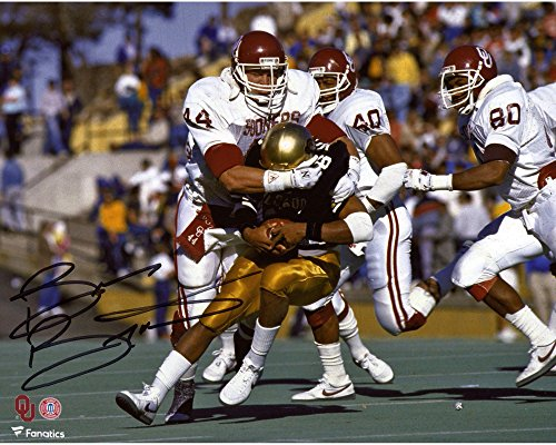 "Brian Bosworth Oklahoma Sooners Autographed 8"" x 10"" Tackle Photograph - Fanatics Authentic Certified from Sports Memorabilia"