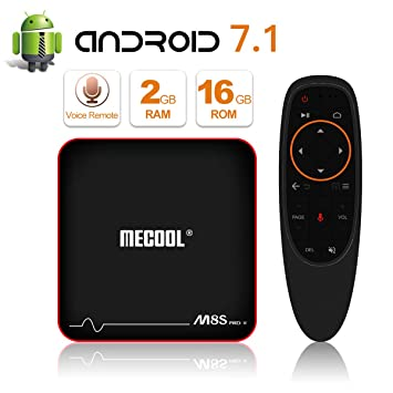 Newest Model MECOOL M8S Pro Android 7 1 2 TV Box with Innovative Voice  Remote, Best Android UI, 2GB RAM 16GB ROM and HD 4K Internet Media Players