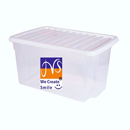 50 Litre JMS® Large Big Plastic Storage Box with Lid Strong Stackable Container Made In  sc 1 st  Amazon UK & 50 Litre JMS® Large Big Plastic Storage Box with Lid Strong ...