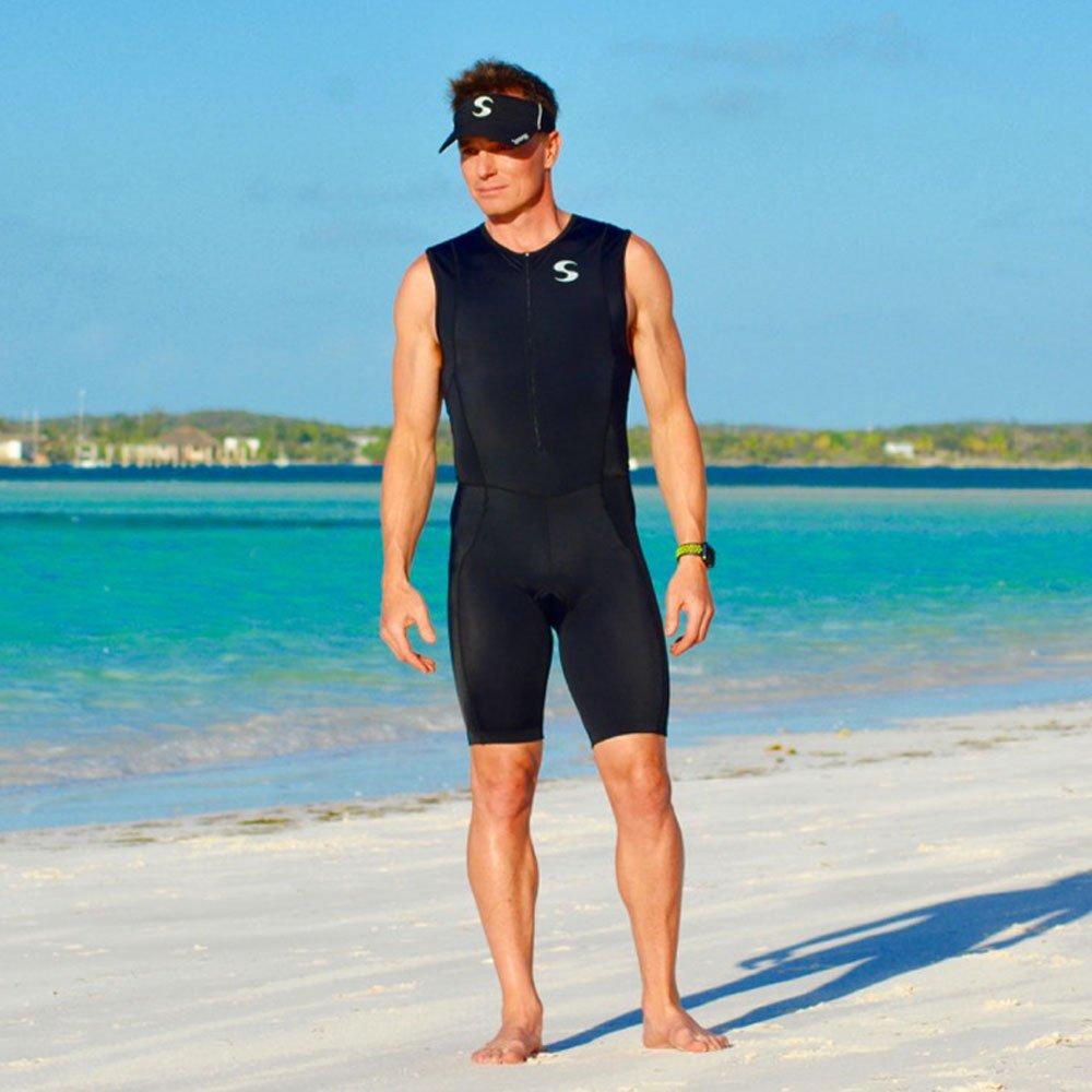 Synergy Triathlon Tri Suit Men's Trisuit (Black/Black, XX-Large) by Synergy (Image #5)