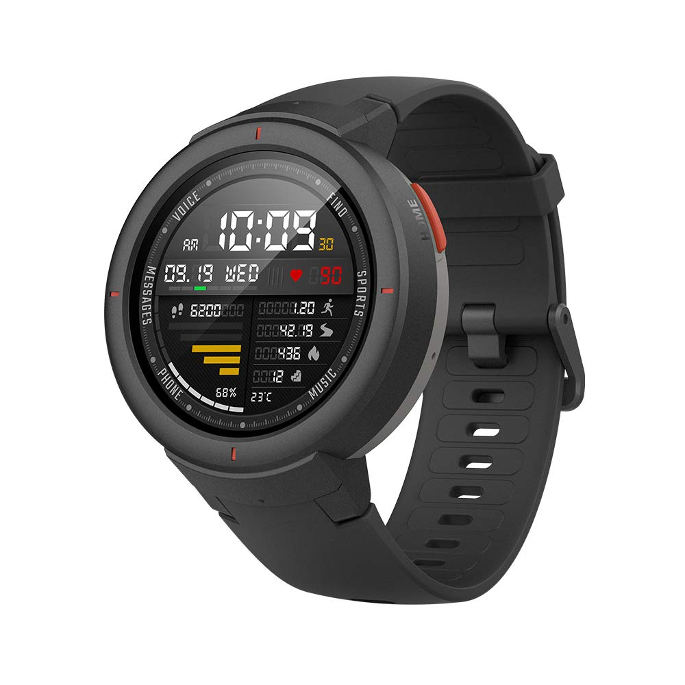 Amazfit Verge Smartwatch with Alexa Built-in, GPS Plus GLONASS All-Day Heart Rate and Activity Tracking, 5-Day Battery Life, Ability to Make and Answer Phone Calls, IP68 Waterproof, A1811 Gray by Amazfit