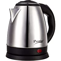 PRESTIGE Steel 1.5L Electric Kettle with Concealed Element and Detachable Powerbase,Deep Black