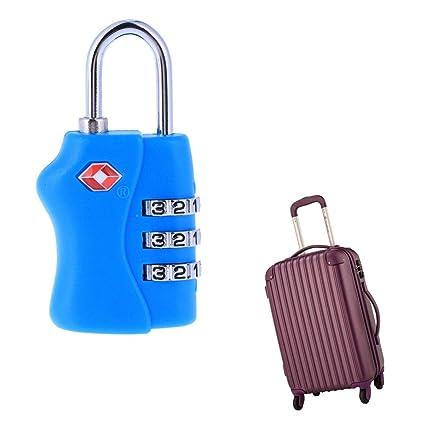 combinaci/ón de 3 d/ígitos Bolsa de viaje personalizada Maleta Maleta Cerradura de equipaje Restablecer Candado con contrase/ña