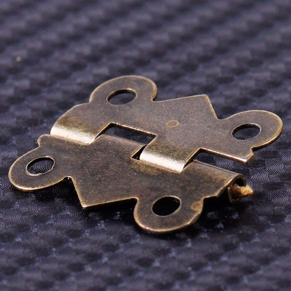Set Tornillos Antiguo 20x17mm Bisagra Mariposa peque/ña bisagra Incluido Acabado de lat/ón Antiguo de Bricolaje royalr 20pcs