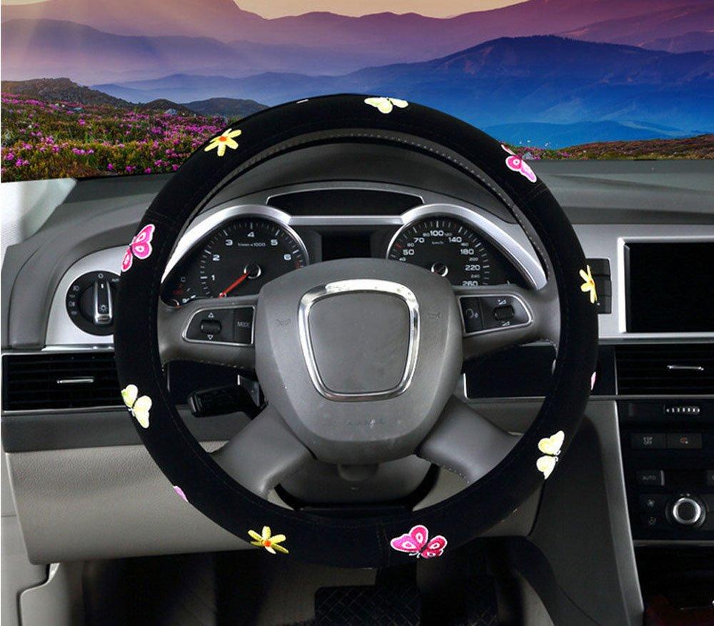 Ciliegia Mayco Bell Signora Coprivolanti Donne Ricamo Carina Copertura del Volante dellautomobile
