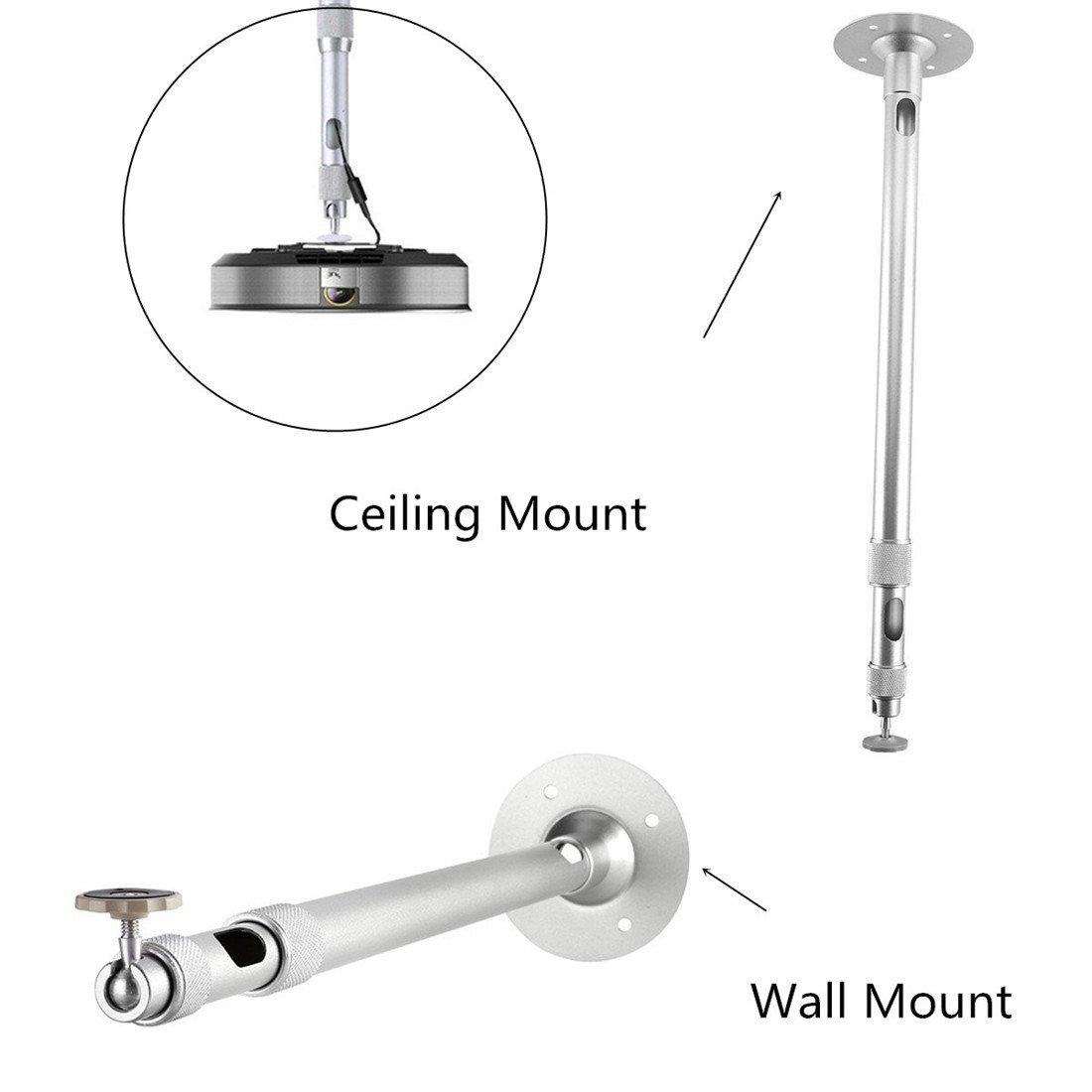 Adjustable Height Tilt//Swivel Bracket Ivosmart Projector Tripod Floor Stand Holder