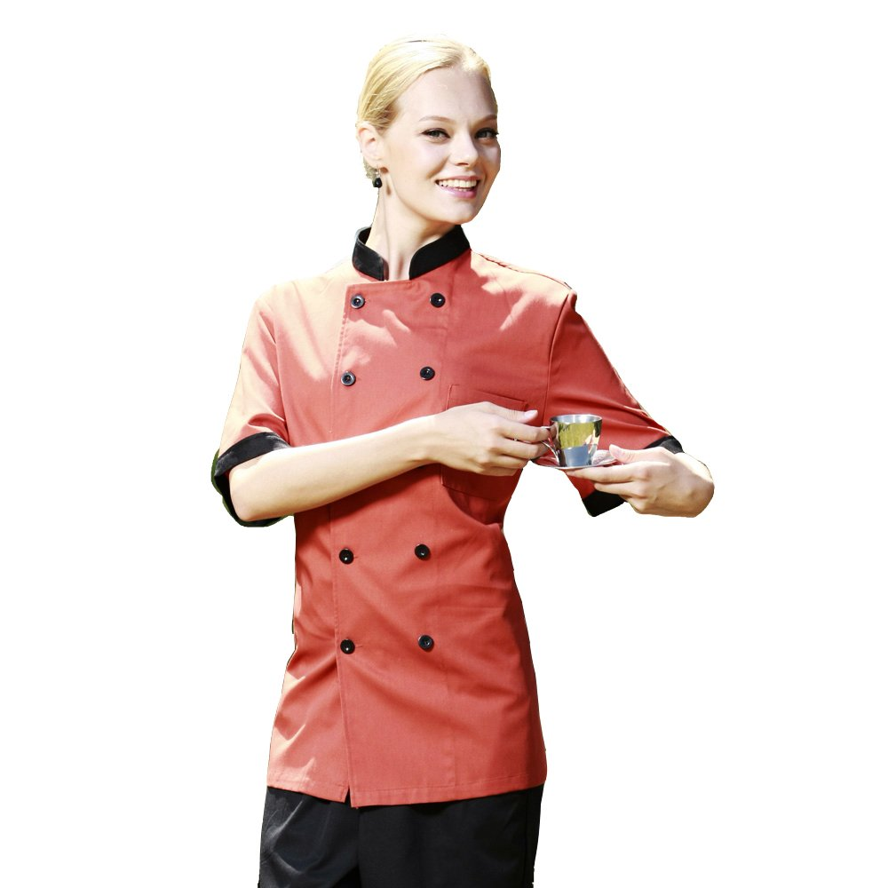 Cheflife Colored Unisex Chef Uniforms Short Sleeve Coat