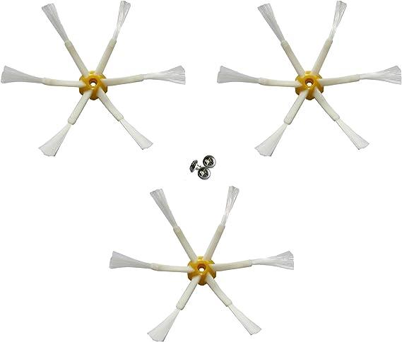 MIRTUX Pack de 3 cepillos Laterales mejorados compatibles con ...