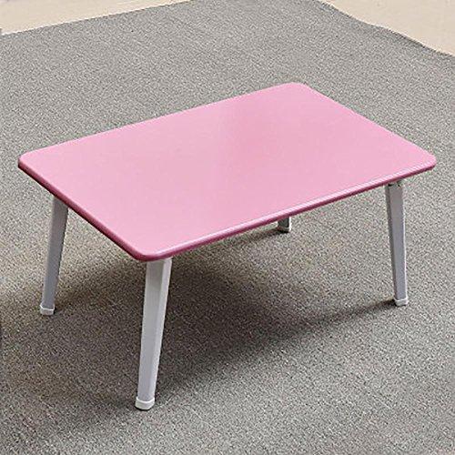 KSUNGB Laptop desk Bed Writing desk Small table Multifunction Foldable Bay window Desk Dorm room Lazy People Desk, Pink by KSUNGB