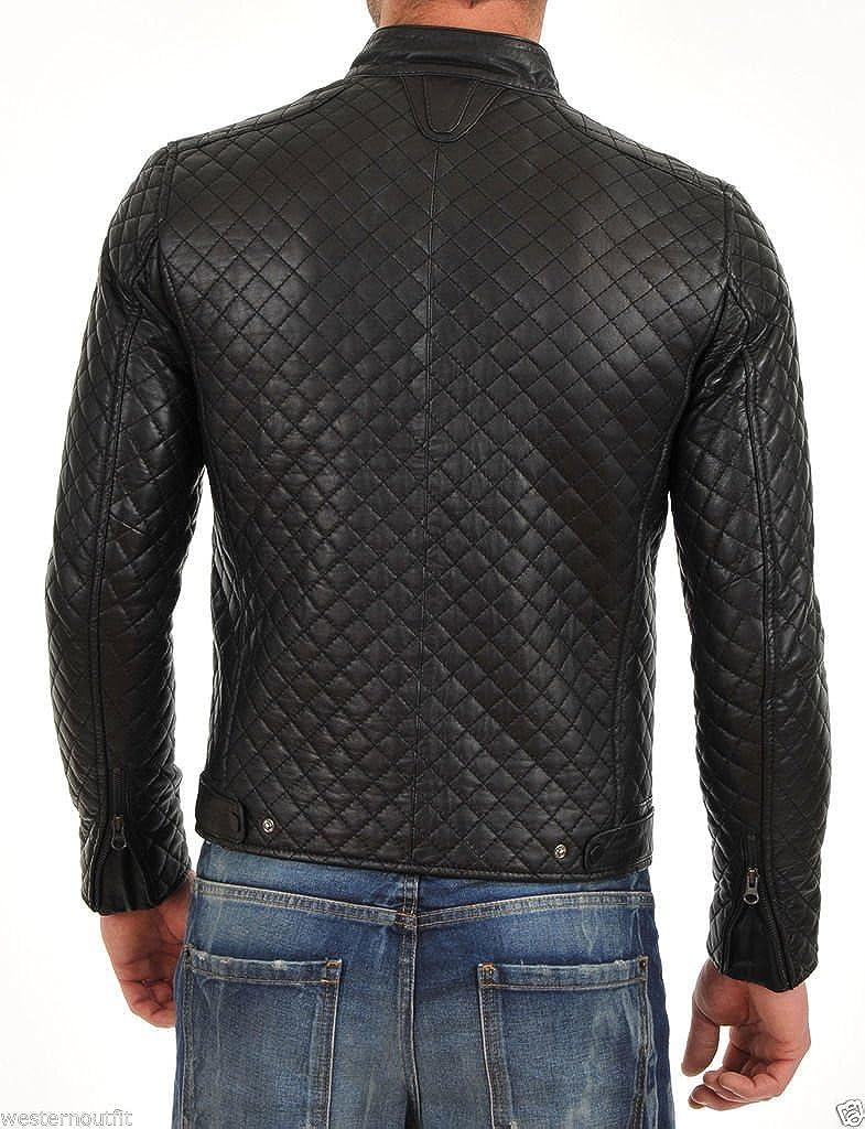 Travel Hide Mens Leather Jacket Motorcycle Genuine Lambskin Biker Jacket TM021