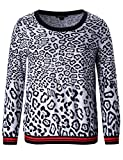 Chicwe Women's Plus Size Stretch Pull on Printed Jumper Top 3X