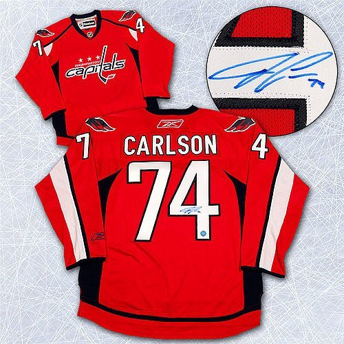 d8c4e4e8cd6 low-cost Autographed John Carlson Washington Capitals Reebok Premier Hockey  Jersey - Signed NHL Jerseys
