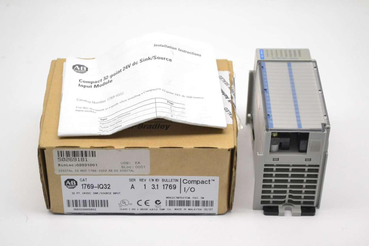 NEW ALLEN BRADLEY 1769-IQ32 COMPACT I/O INPUT MODULE SER A REV 1 D271564