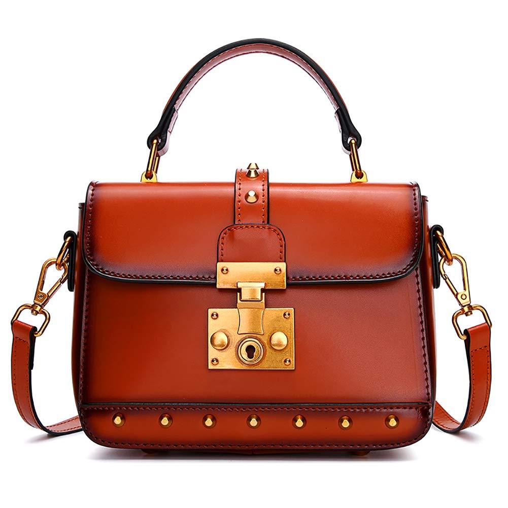 Womens bag retro Liu Ding shoulder bag fashion small square bag leather portable Messenger bag