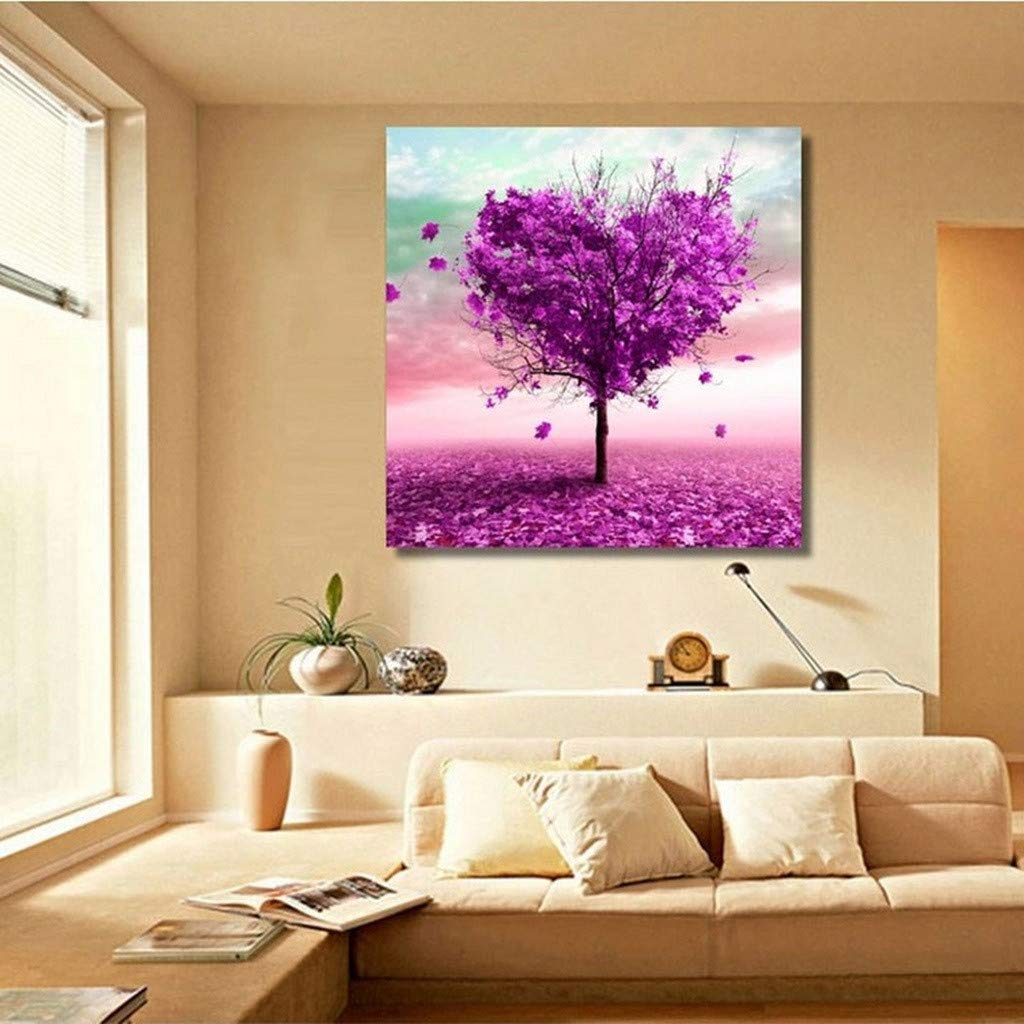 DIY 5D Diamond Painting Love Heart Tree Partial Drill Rhinestone Embroidery Dotz Cross Stitch by Number Kit Home Wall Decor for Adults Kids Beginner (Tree) Codiak