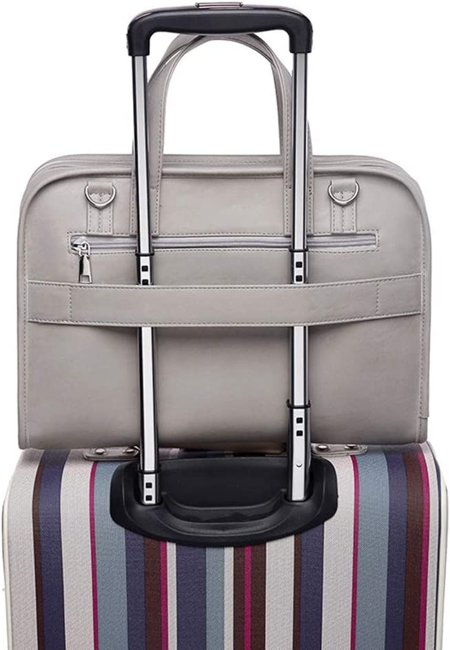 Color : Gray, Size : 13.3inch Lorachun PU Laptop Bag Waterproof One Shoulder Can Be Set Lever 14//15.6inch Gray and Pink