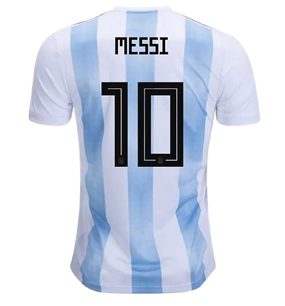 24b8fe537b7 Amazon.com: Argentina Home Youth Messi Jersey 2018/2019 (Official  Printing): Clothing