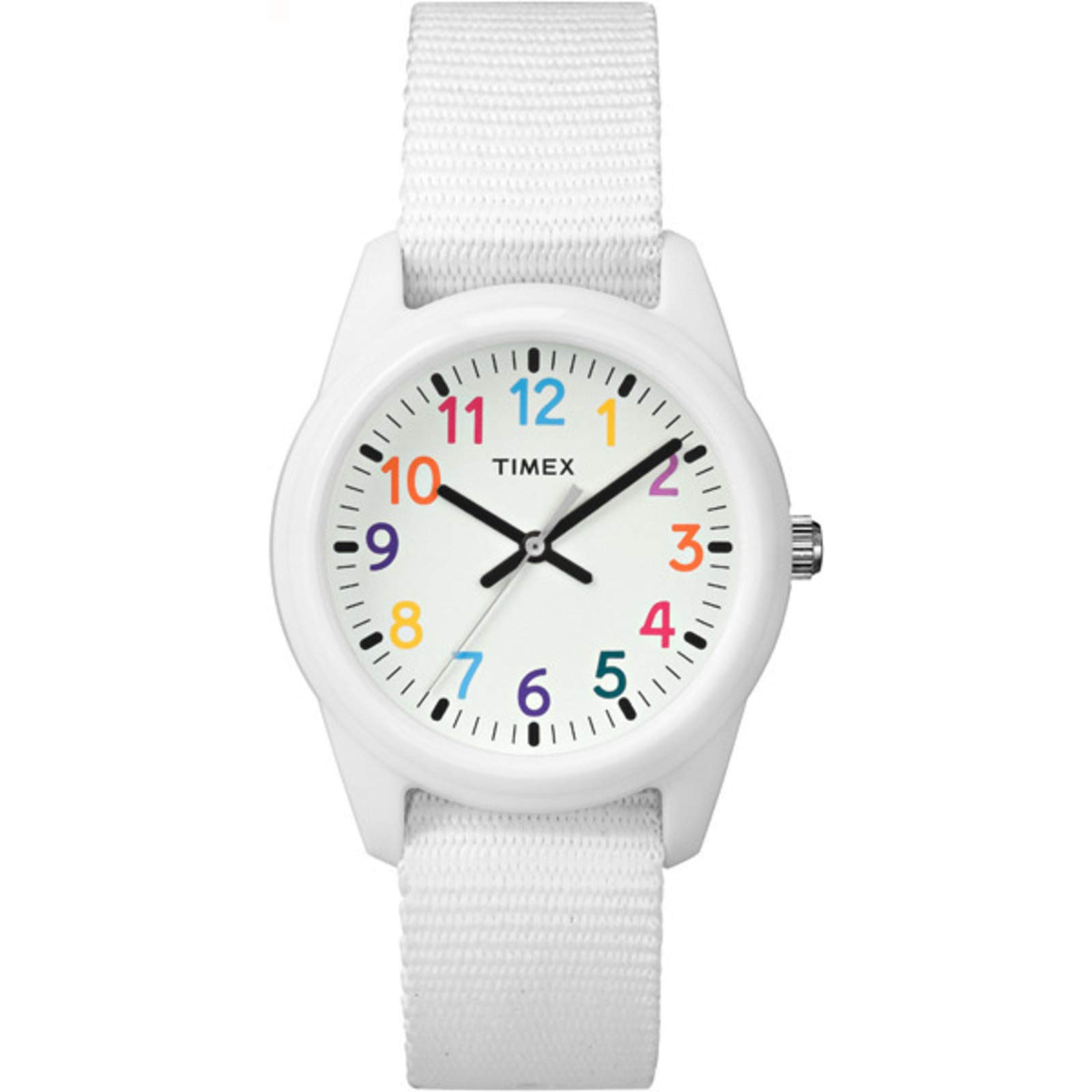 Timex Kids Analog 30mm Fabric Strap |White| Rainbow Youth Watch TW7C10300 by Timex