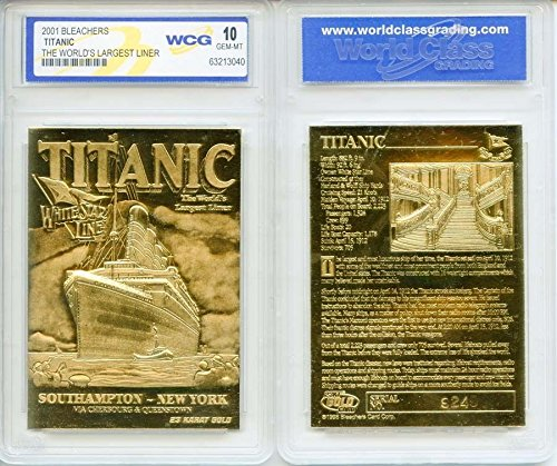 1912 TITANIC Largest Liner 23KT Gold Card Sculptured - Graded GEM MINT 10 ()
