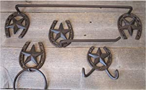 4 Piece Star Horseshoe and Star Bathroom Set