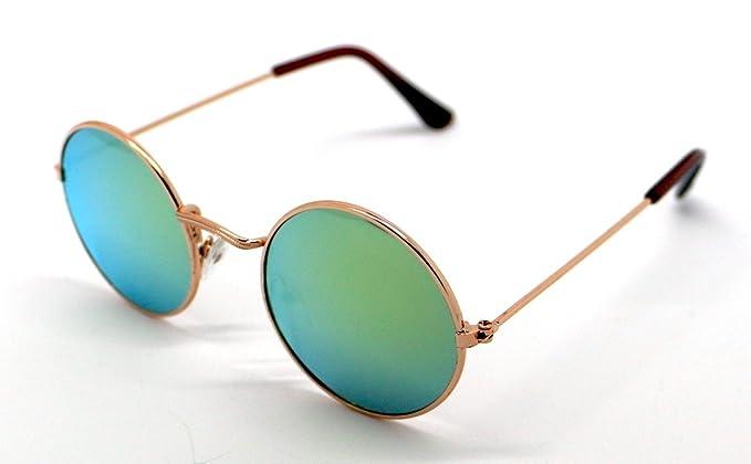 Gafas de Sol Niño Infantil Hippie Espejo Sunglasses Dorado ...