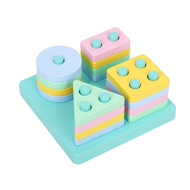 Wooden Educational Preschool Toddler Toys for 1 2 3 4 5 Year Old Boys Girls (Short)