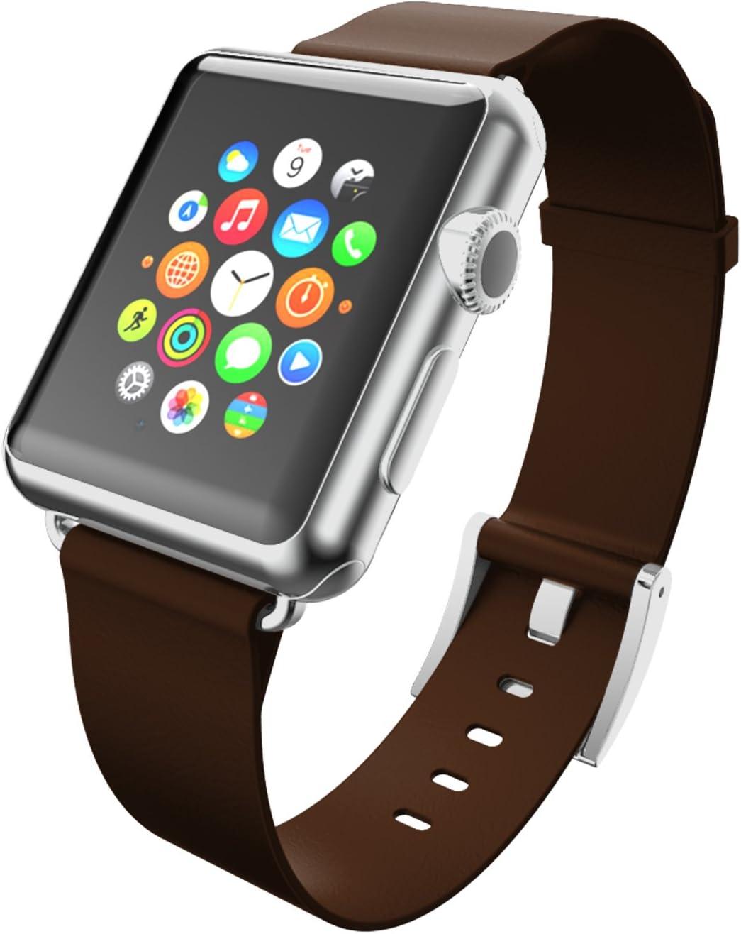 Mail order cheap Incipio Apple Watch 38mm Premium Leather Espresso Watchband 55% OFF -