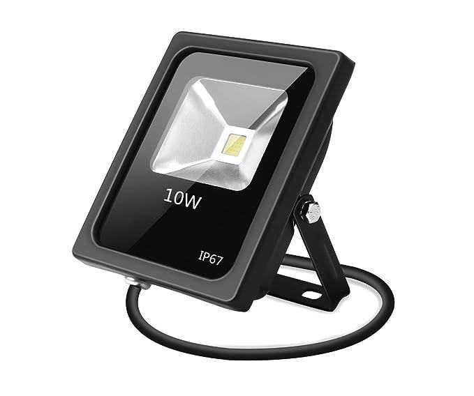 Foco Proyector LED 10 W Super luminoso blanco frío exterior ...